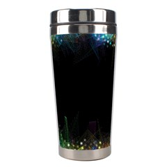 Frame Border Feathery Blurs Design Stainless Steel Travel Tumblers