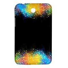 Frame Border Feathery Blurs Design Samsung Galaxy Tab 3 (7 ) P3200 Hardshell Case