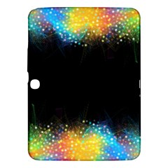 Frame Border Feathery Blurs Design Samsung Galaxy Tab 3 (10 1 ) P5200 Hardshell Case