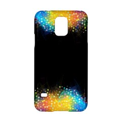 Frame Border Feathery Blurs Design Samsung Galaxy S5 Hardshell Case