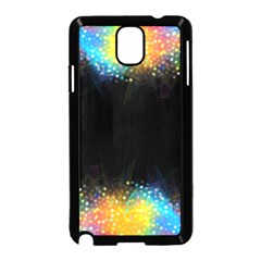 Frame Border Feathery Blurs Design Samsung Galaxy Note 3 Neo Hardshell Case (black)