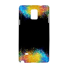 Frame Border Feathery Blurs Design Samsung Galaxy Note 4 Hardshell Case