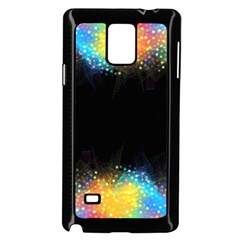 Frame Border Feathery Blurs Design Samsung Galaxy Note 4 Case (black)