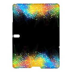 Frame Border Feathery Blurs Design Samsung Galaxy Tab S (10 5 ) Hardshell Case