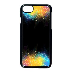 Frame Border Feathery Blurs Design Apple Iphone 7 Seamless Case (black)