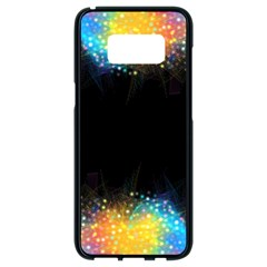Frame Border Feathery Blurs Design Samsung Galaxy S8 Black Seamless Case