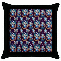 Seamless Pattern Pattern Throw Pillow Case (black)