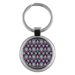 Seamless Pattern Pattern Key Chains (round)