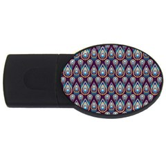 Seamless Pattern Pattern Usb Flash Drive Oval (2 Gb)