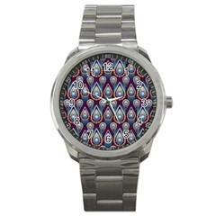 Seamless Pattern Pattern Sport Metal Watch
