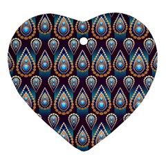 Seamless Pattern Pattern Heart Ornament (two Sides)