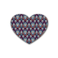 Seamless Pattern Pattern Heart Coaster (4 Pack)