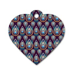 Seamless Pattern Pattern Dog Tag Heart (two Sides)