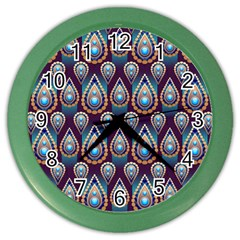Seamless Pattern Pattern Color Wall Clocks