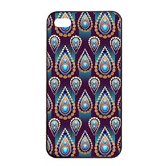 Seamless Pattern Pattern Apple Iphone 4/4s Seamless Case (black)
