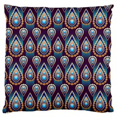 Seamless Pattern Pattern Large Flano Cushion Case (one Side)