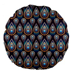 Seamless Pattern Pattern Large 18  Premium Flano Round Cushions