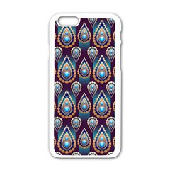 Seamless Pattern Pattern Apple Iphone 6/6s White Enamel Case