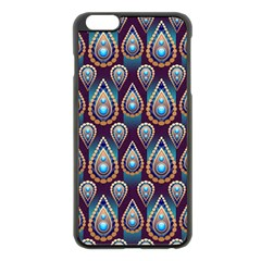 Seamless Pattern Pattern Apple Iphone 6 Plus/6s Plus Black Enamel Case