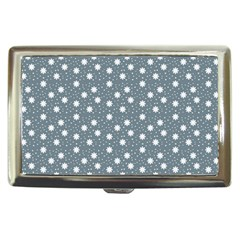Floral Dots Blue Cigarette Money Cases