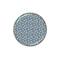 Floral Dots Blue Hat Clip Ball Marker (10 Pack)