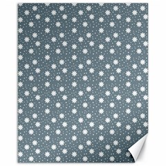 Floral Dots Blue Canvas 16  X 20