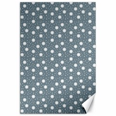 Floral Dots Blue Canvas 20  X 30