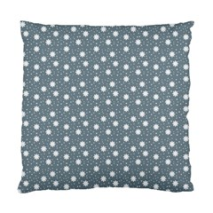 Floral Dots Blue Standard Cushion Case (one Side)