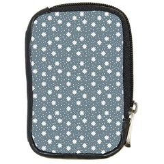Floral Dots Blue Compact Camera Cases