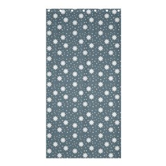 Floral Dots Blue Shower Curtain 36  X 72  (stall)