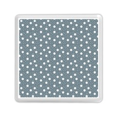 Floral Dots Blue Memory Card Reader (square)