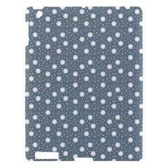 Floral Dots Blue Apple Ipad 3/4 Hardshell Case