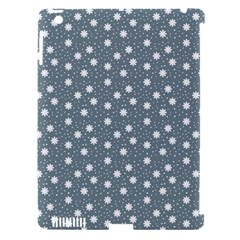 Floral Dots Blue Apple Ipad 3/4 Hardshell Case (compatible With Smart Cover)