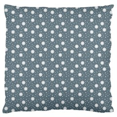 Floral Dots Blue Large Cushion Case (one Side)
