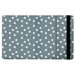 Floral Dots Blue Apple Ipad 3/4 Flip Case
