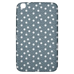 Floral Dots Blue Samsung Galaxy Tab 3 (8 ) T3100 Hardshell Case