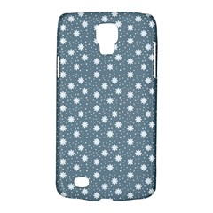 Floral Dots Blue Galaxy S4 Active
