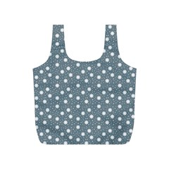 Floral Dots Blue Full Print Recycle Bags (s)