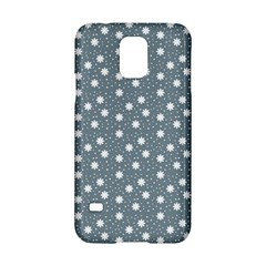 Floral Dots Blue Samsung Galaxy S5 Hardshell Case