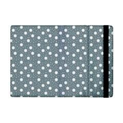 Floral Dots Blue Ipad Mini 2 Flip Cases