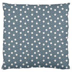 Floral Dots Blue Standard Flano Cushion Case (two Sides)