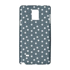 Floral Dots Blue Samsung Galaxy Note 4 Hardshell Case