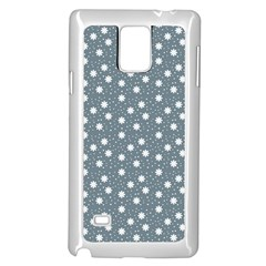 Floral Dots Blue Samsung Galaxy Note 4 Case (white)