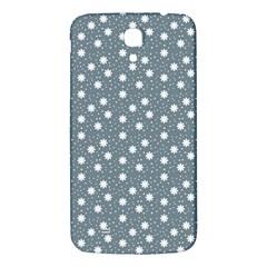 Floral Dots Blue Samsung Galaxy Mega I9200 Hardshell Back Case