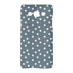 Floral Dots Blue Samsung Galaxy A5 Hardshell Case