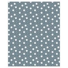 Floral Dots Blue Drawstring Bag (small)