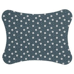 Floral Dots Blue Jigsaw Puzzle Photo Stand (bow)
