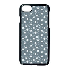 Floral Dots Blue Apple Iphone 7 Seamless Case (black)