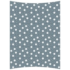 Floral Dots Blue Back Support Cushion