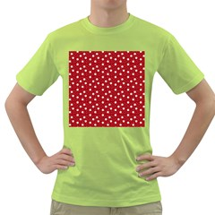 Floral Dots Red Green T Shirt